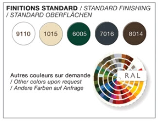 5 coloris disponibles sans plus value